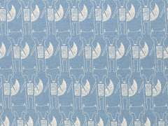 Jersey Stoff Benno - Fuchs - hellblau