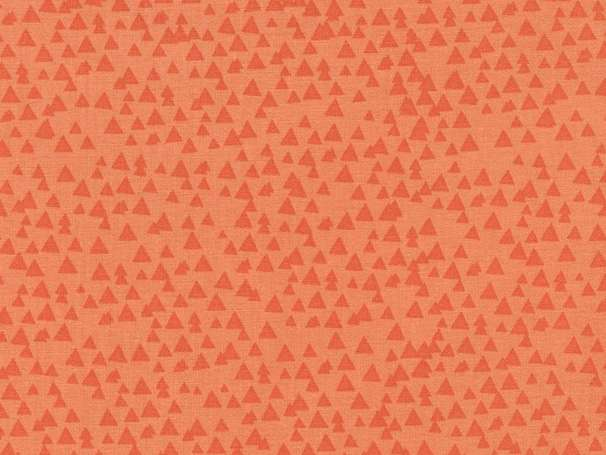 Baumwolle Stoff - Tonal Triangles Melon