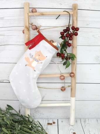 Baumwollstoff PANEL - Weihnachtssocke - Nähbeispiel