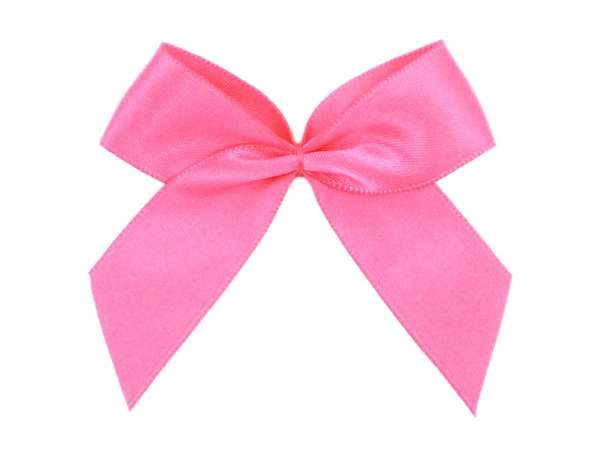 Satin Schleife - 65 mm - pink