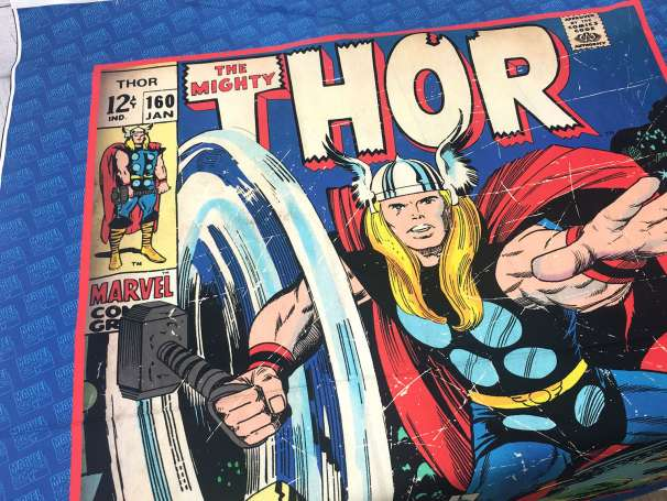 Baumwolle Stoff - PANEL - The Mighty Thor