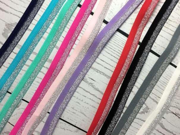 Glitzer Falzgummi - verschiedene Farben