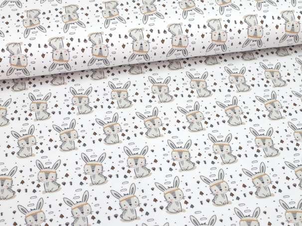 Jersey Stoff - Little One - weiß