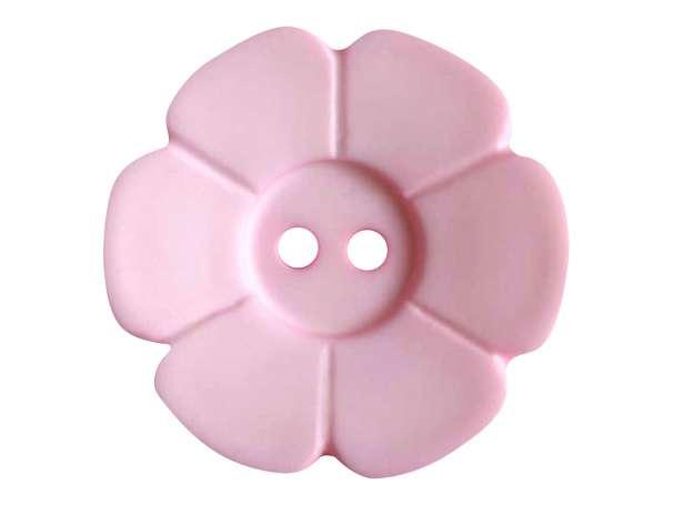 Knopf Blümchen 28mm - rosa