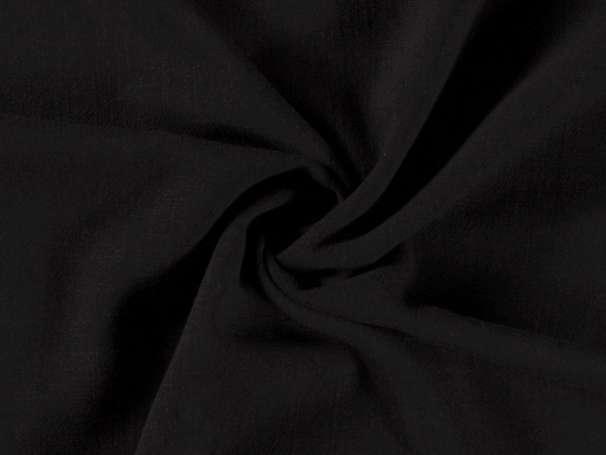 Viskose Leinen Stoff - Leinen-Struktur - schwarz