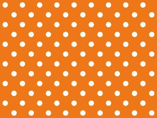 BAUMWOLLE Stoff - Punkte - orange,weiß