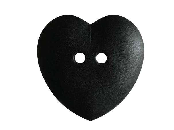 Knopf Herz 23mm - schwarz