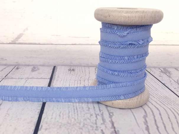 Rüschen - Gummiband - hellblau