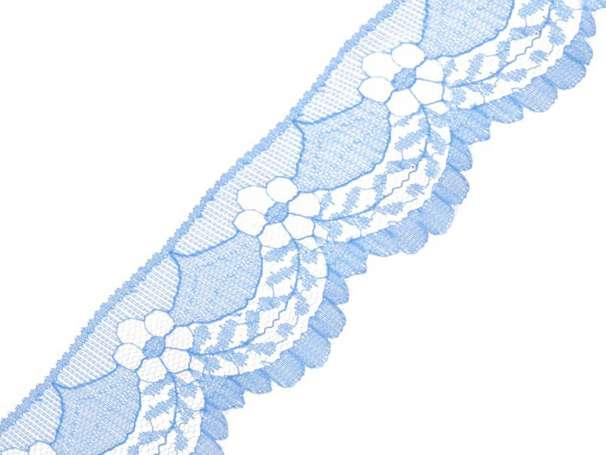 Synthetische Spitze Blumenbogen - 40mm - hellblau