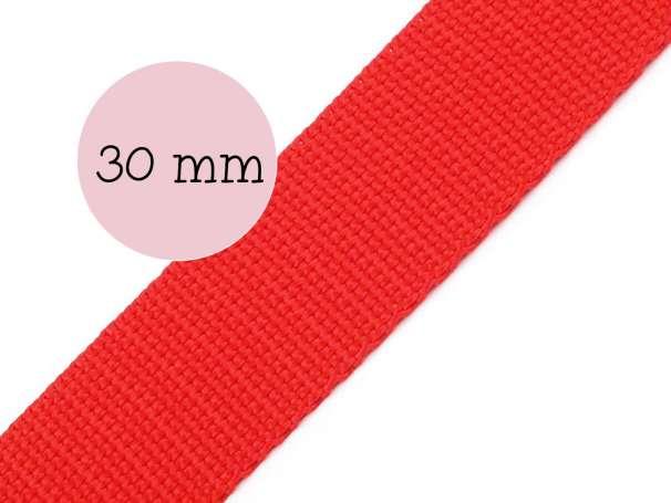 Gurtband - 30mm - rot