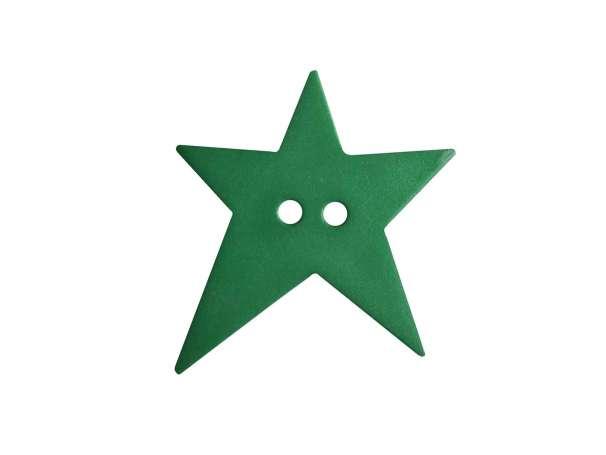 Knopf Stern 15mm - grün