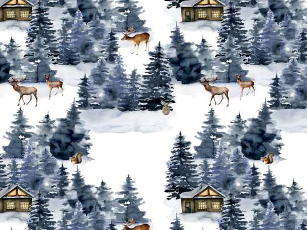 French Terry - In the Forest - Tiere
