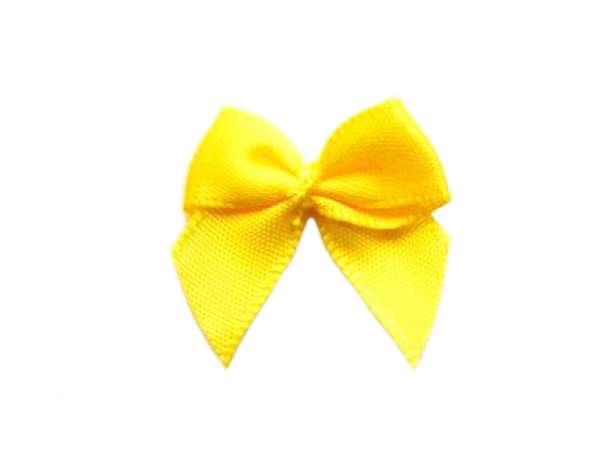 Satin Schleife - 24 mm - gelb