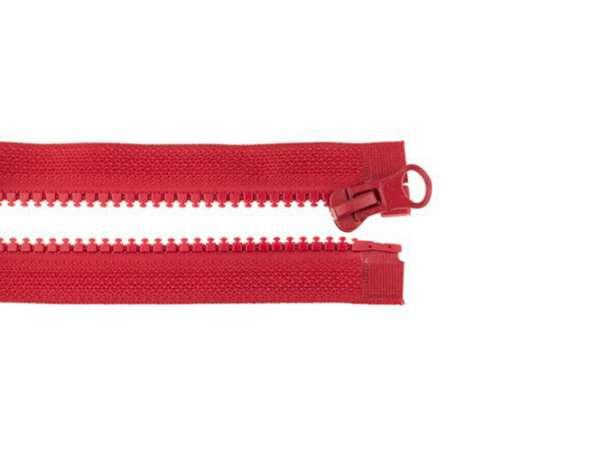 Teilbarer Reißverschluss - 40 cm - dunkles rot