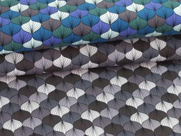 Jersey Stoff - Ornamente, groß - verschiedene Farben
