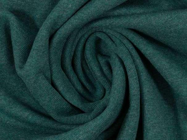 Bündchenstoff - dunkelgrün meliert