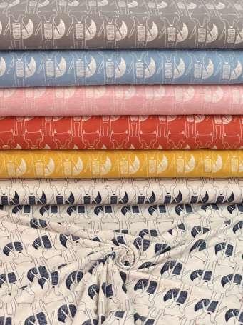 Jersey Stoff Benno - Fuchs - Farben