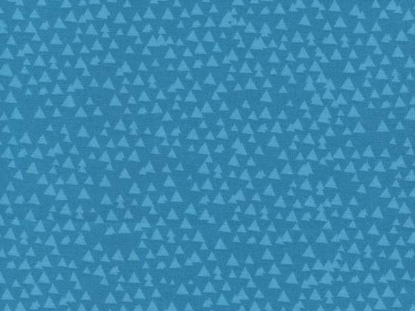 Baumwolle Stoff - Tonal Triangles Blue