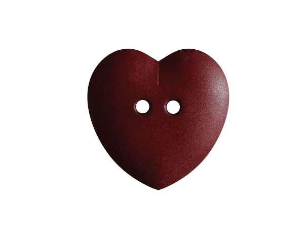 Knopf Herz 15mm - weinrot