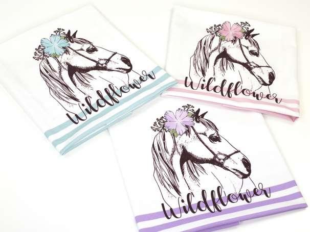 Jersey Stoff PANEL - Pferd Wildflower - Farben