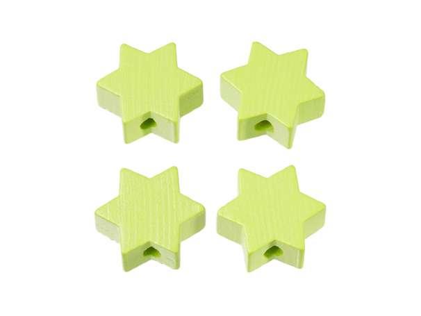 Schnulli-Stern-Perlen - 4 Stück - lemon