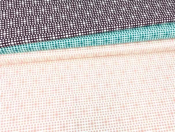 Baumwolle Stoff - Squared - verschiedene Farben