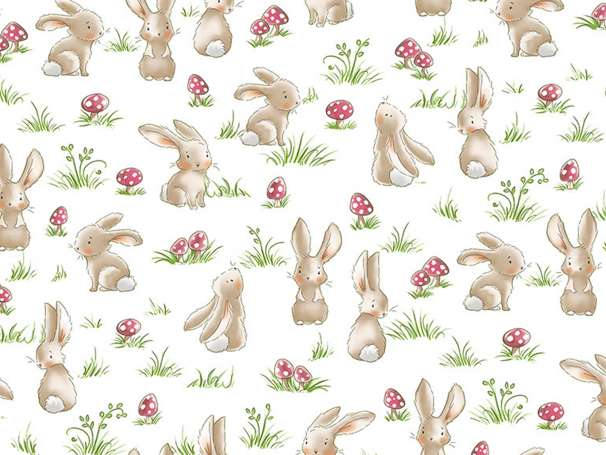 Baumwolle Stoff - Curious Bunnies