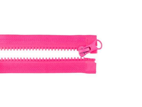 Teilbarer Reißverschluss - 70 cm - pink