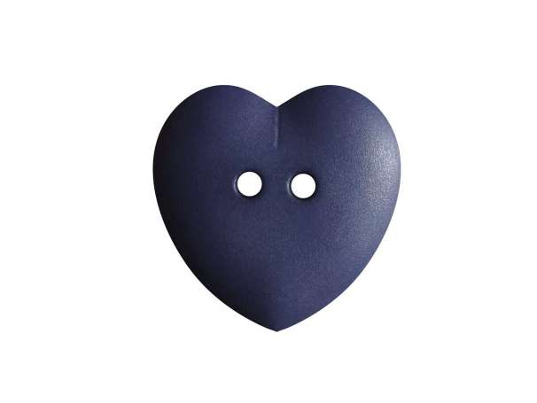 Knopf Herz 15mm - blau