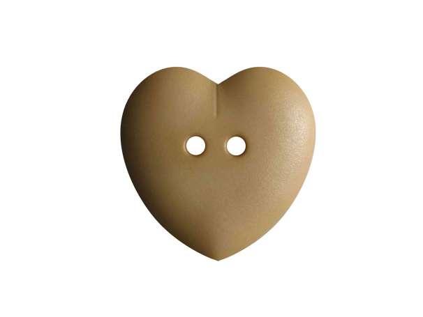 Knopf Herz 15mm - beige