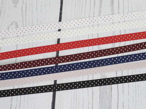Satinband Pünktchen - 12 mm - verschiedene Farben