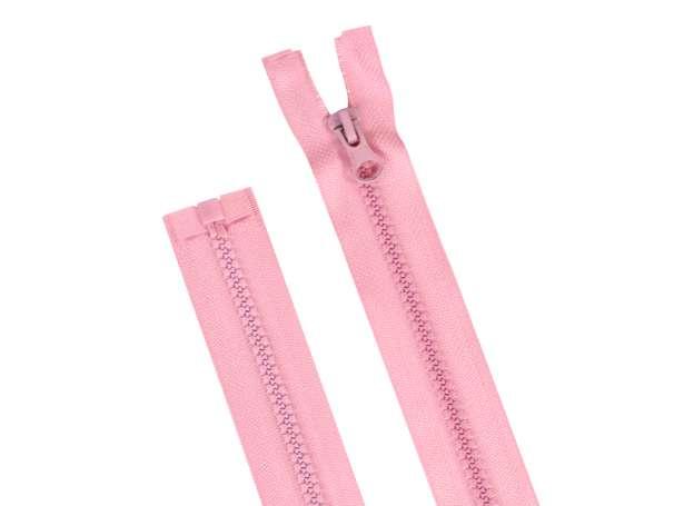 Teilbarer Reißverschluss - 75 cm - rosa