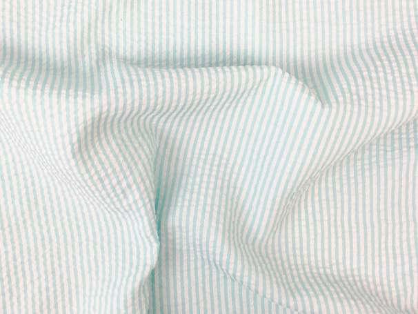 Seersucker - Streifen - mint