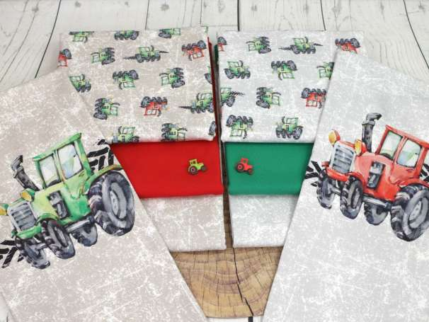Jersey Stoff - Traktor - Serie