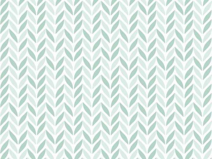 Sommerjersey Stoff - Blätter - mintgrün
