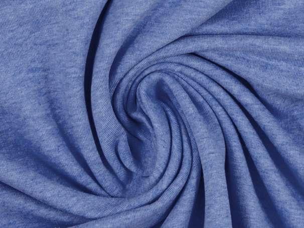 Sweat Stoff - blau meliert