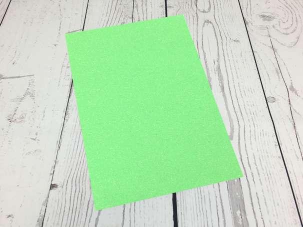 Glitzer Plotterfolie - DIN A4 - neongrün