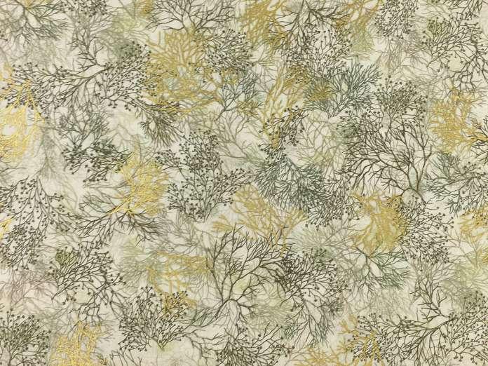 Baumwolle Stoff - Golden Tree Branches