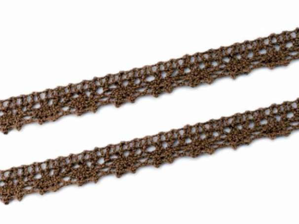 Baumwollspitze - braun