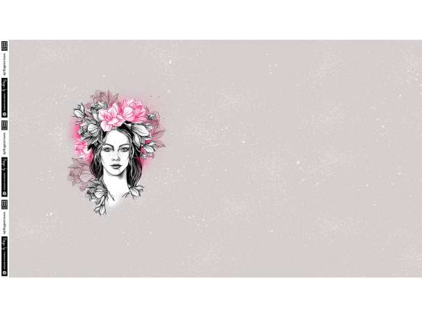 French Terry PANEL - Thorsten Berger - Miss Magnolia, pink