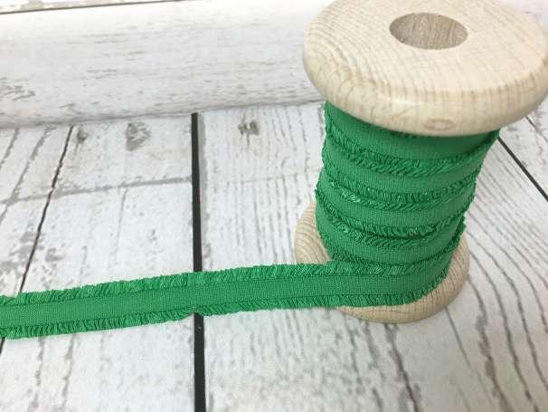 Rüschen - Gummiband - grasgrün