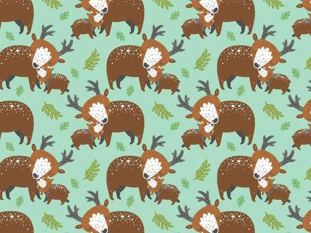 Baumwolle Stoff - Animal Hugs - Deer