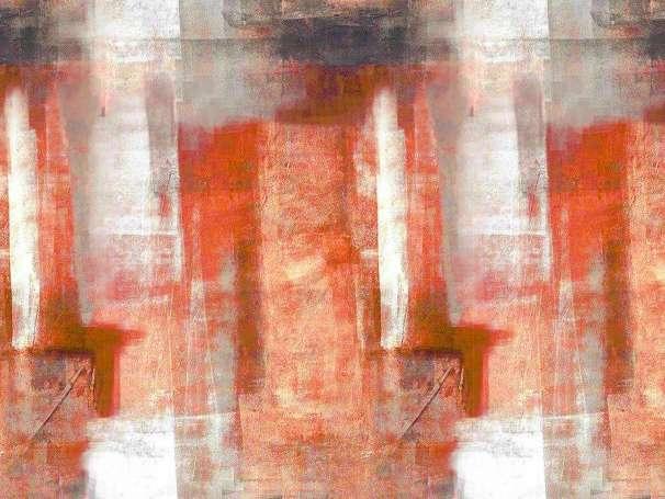 Jersey Stoff - Abstrakt - rostorange