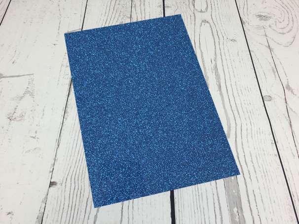Glitzer Plotterfolie - DIN A4 - blau