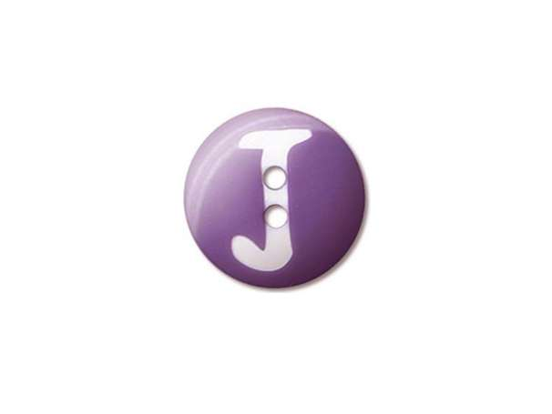 Buchstaben Knopf - Ø 15 mm - J