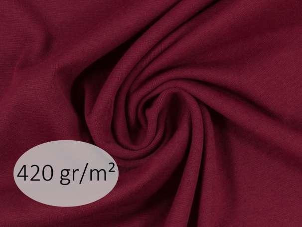 Bündchenstoff - ANTJE 420 gr. - bordeaux