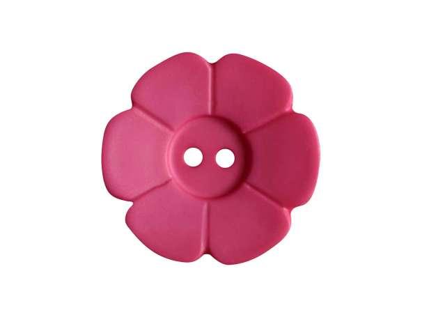 Knopf Blümchen 15mm - pink