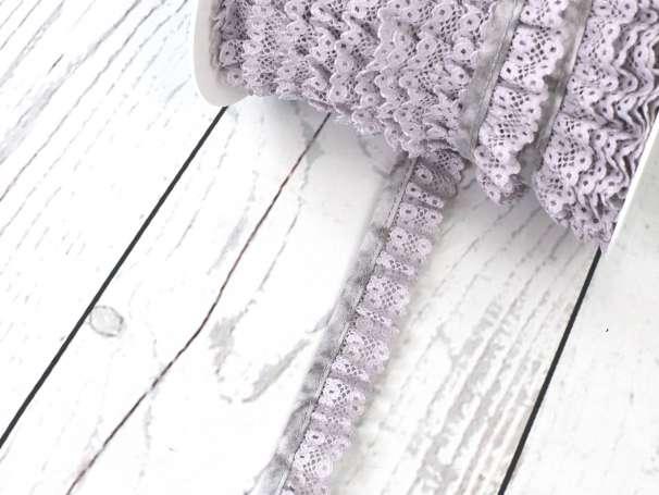 Rüschenband - 20 mm - hellgrau