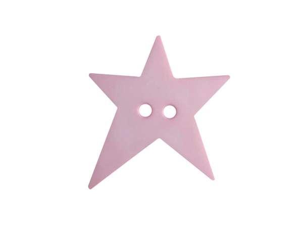 Knopf Stern 15mm - rosa