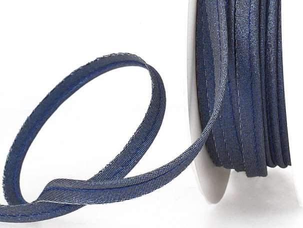 Paspelband - metallic - blau